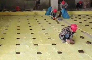 地面减震砖安装方法!